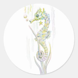 Succulente Seahorse Ronde Sticker