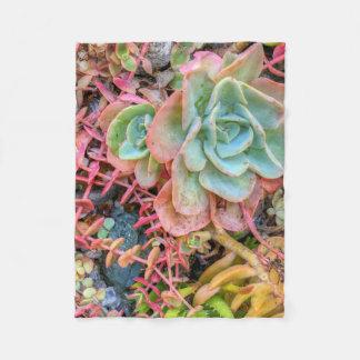 succulents fleece deken