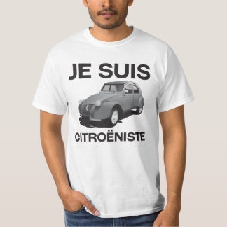 Suis van Je citroëniste - origineel grijs Citroën T Shirt