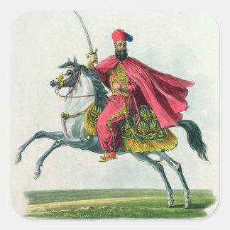 Sultan Mahmud II 1829 Vierkante Sticker