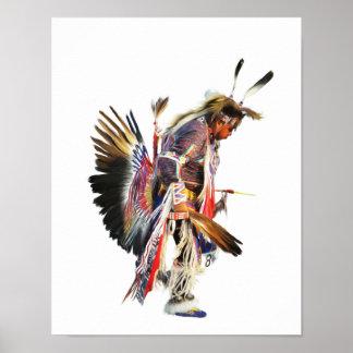 Sundancer - het Inheemse Amerikaanse Poster van de