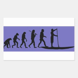 SUP Evolutie Rechthoekige Sticker