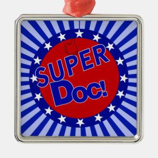 SUPER DOC. - ARTS - ARTS ZILVERKLEURIG VIERKANT ORNAMENT