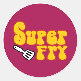 Super Gebraden gerecht (Grappige Blaxploitation) Ronde Sticker