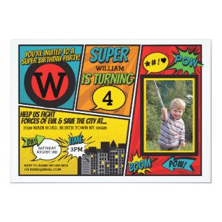 Super Held van de Uitnodiging van Superhero nodigt