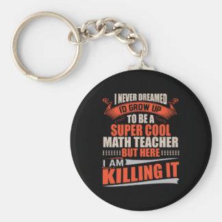 Super koele wiskundeleraar die het doden sleutelhanger