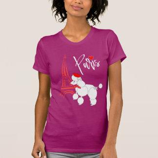 Super Leuk van de Poedel van Parijs van de liefde T Shirt
