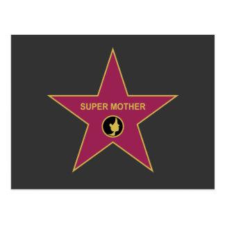 Super Moeder - de Ster van de Moeder Hollywood Briefkaart