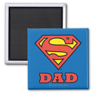Super Papa Vierkante Magneet
