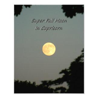 Super Volle maan in Steenbok Foto Afdrukken