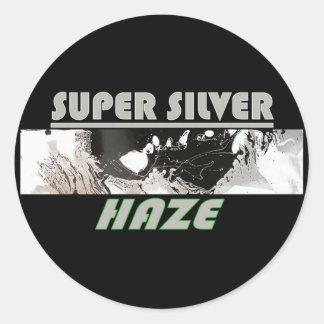 SUPER ZILVEREN NEVEL RONDE STICKER