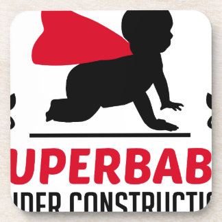 superbaby in aanbouw bier onderzetter