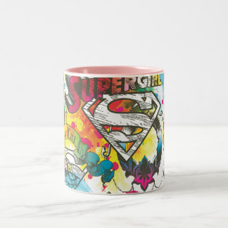 Supergirl het Patroon van Lux Tweekleurige Koffiemok