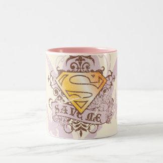 Supergirl redt me tweekleurige koffiemok