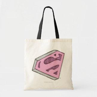 Supergirl schetste Roze Logo Draagtas