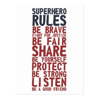 Superhero beslist het Briefkaart van de