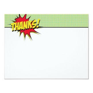 Superhero dankt u Kantoorbehoeften Kaart