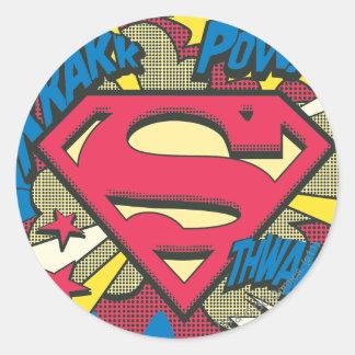 Superman 66 ronde sticker