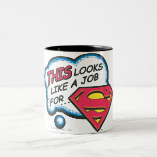 Superman 74 tweekleurige koffiemok