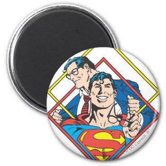 Superman/Clark Kent Ronde Magneet 5,7 Cm
