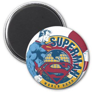 Superman - de Held van de Wereld Ronde Magneet 5,7 Cm