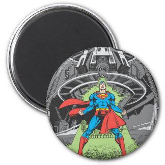 Superman die aan Kryptonite wordt blootgesteld Ronde Magneet 5,7 Cm