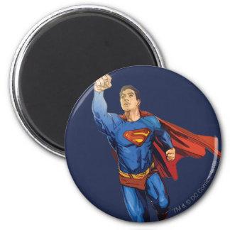 Superman die links vliegen magneet