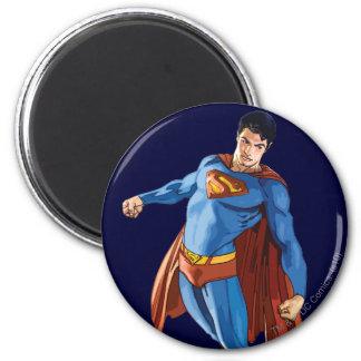 Superman die neer kijken ronde magneet 5,7 cm
