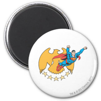 Superman & Eagle Ronde Magneet 5,7 Cm