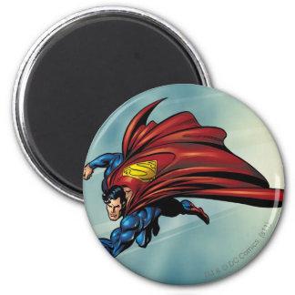 Superman flys met kaap ronde magneet 5,7 cm