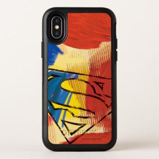 Superman Geschilderd Logo OtterBox Symmetry iPhone X Hoesje