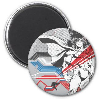 Superman - het Absurde Poster van de Collage Ronde Magneet 5,7 Cm