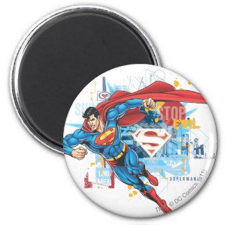 Superman - het Kwaad van het Einde Ronde Magneet 5,7 Cm