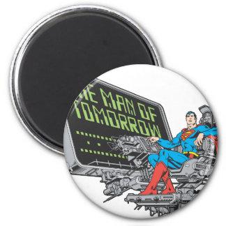 Superman - het Man van Morgen Ronde Magneet 5,7 Cm