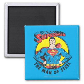 Superman het Man van Staal Vierkante Magneet