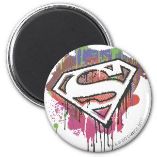 Superman - het Verdraaide Logo van de Onschuld Koelkast Magneetje