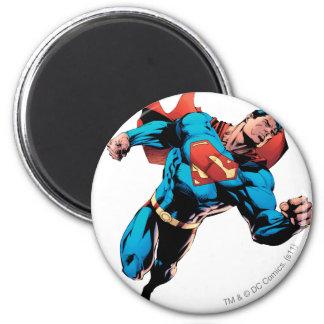 Superman in kostuum ronde magneet 5,7 cm