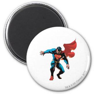 Superman in Schaduw Ronde Magneet 5,7 Cm