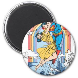 Superman & Lois in Geel Ronde Magneet 5,7 Cm