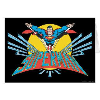 Superman met Brieven Wenskaart