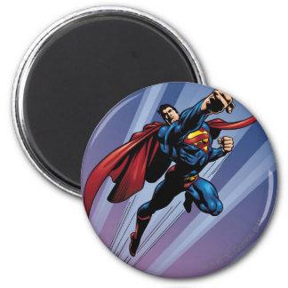 Superman met lichte stroken koelkast magneten