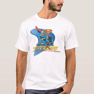 Superman met trein - Kleur T Shirt