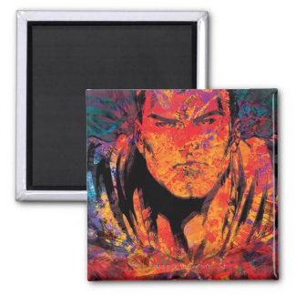 Superman Oranje Grunge Vierkante Magneet
