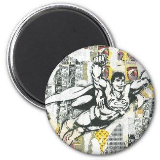 Superman - Stijging OP Collage 2 Ronde Magneet 5,7 Cm
