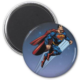 Superman tegen de nachthemel koelkast magneetjes
