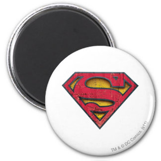 Superman Verontrust Logo Ronde Magneet 5,7 Cm