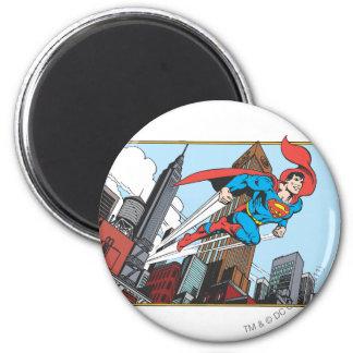 Superman & Wolkenkrabbers Ronde Magneet 5,7 Cm