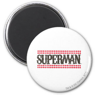 Superman   Zijn Logo van Brieven Showtime Ronde Magneet 5,7 Cm