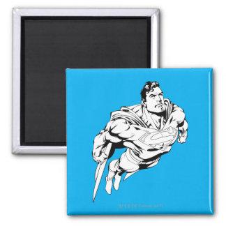 Superman Zwart-witte 1 Vierkante Magneet