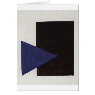 Suprematism met Blauwe Driehoek en Zwart Vierkant Briefkaarten 0